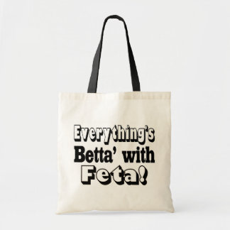 Better With Feta Budget Tote Bag