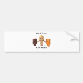 better with friends bumper sticker