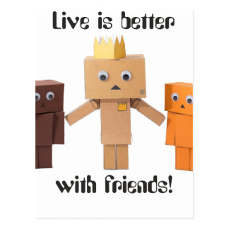 better with friends postcard