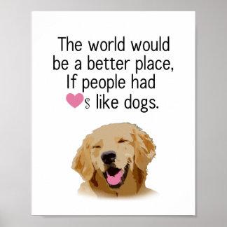 Better World - Dog Poster