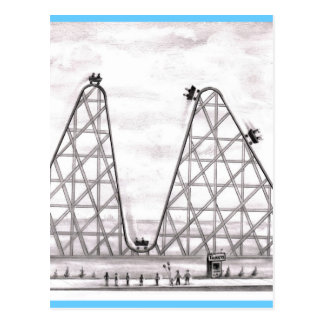 Better Worse Roller Coaster Postcard