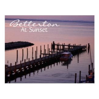 Betterton At Sunset Postcard
