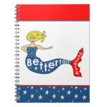 Betterton, cuaderno espiral de la sirena de Maryla