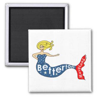 Betterton, Maryland Mermaid Square Magnet