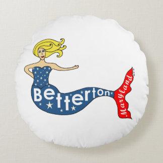 Betterton, sirena de Maryland Cojín Redondo