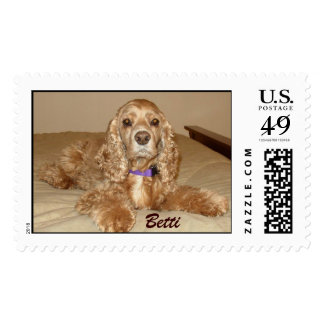Betti the Cocker Spaniel Postage Stamps