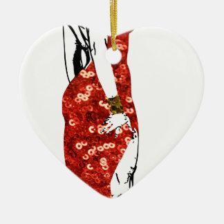 bettie pin up ceramic ornament