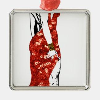 bettie pin up metal ornament