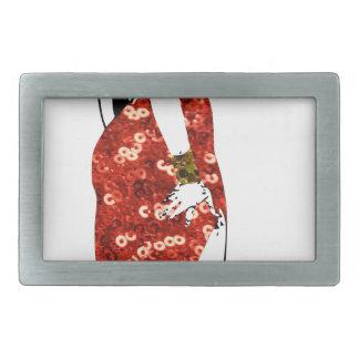 bettie pin up rectangular belt buckle