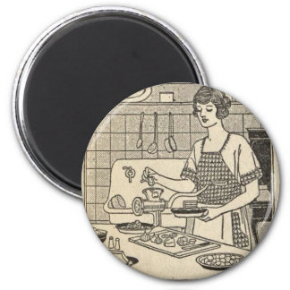 Bettina Cooking Savory Pie 2 Inch Round Magnet