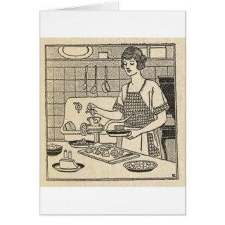 Bettina Cooking Savory Pie Card