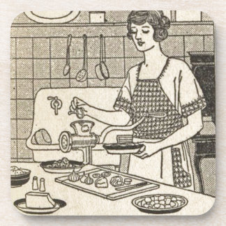 Bettina Cooking Savory Pie Drink Coaster