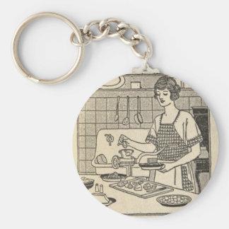 Bettina Cooking Savory Pie Keychain