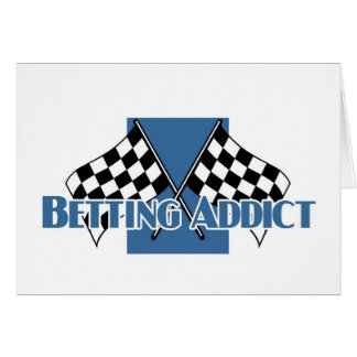 Betting addict's greetings greeting card