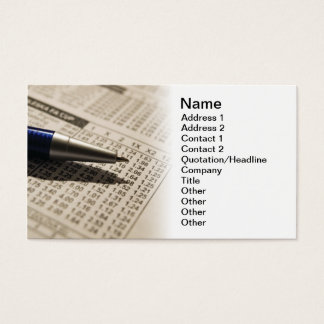 Betting Business Card