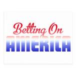 Betting On America Postcard