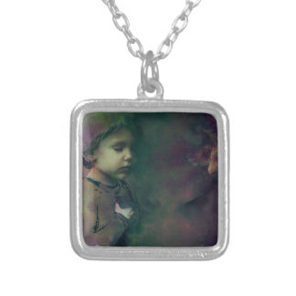 betting on the chances silver plated necklace