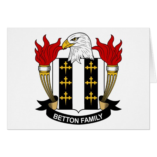 Betton Family Crest Card