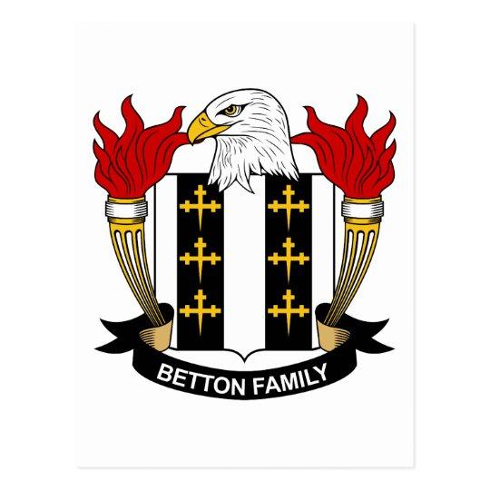 Betton Family Crest Postcard