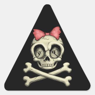 Betty Bones Triangle Sticker