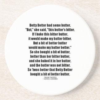 Betty Botter Better Butter (Tongue Twister) Coaster