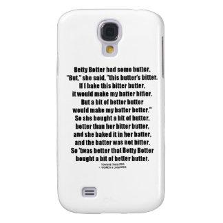 Betty Botter Better Butter (Tongue Twister) Samsung Galaxy S4 Case