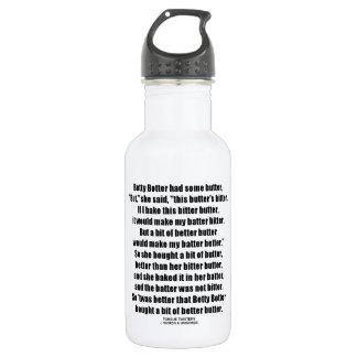 Betty Botter Better Butter (Tongue Twister) Stainless Steel Water Bottle