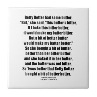 Betty Botter Better Butter (Tongue Twister) Tile