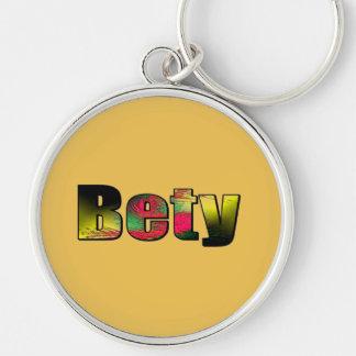 Betty Brownish Style Round Keychain