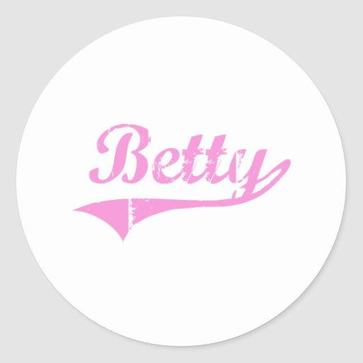 Betty Classic Style Name Classic Round Sticker