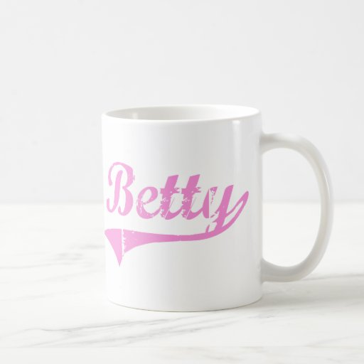 Betty Classic Style Name Coffee Mugs