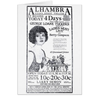 Betty Compson 1922 vintage movie ad card