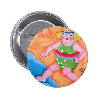 Betty Goes Paddling Pinback Button