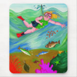Betty Goes Snorkeling Mouse Pad