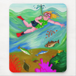 Betty Goes Snorkeling Mouse Mats
