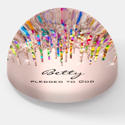 Betty NAME MEANING Holograph Drips Birthday Gift Paperweight