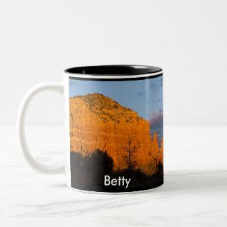 Betty on Moonrise Glowing Red Rock Mug