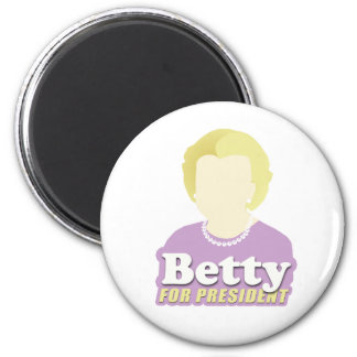 Betty para el presidente imán redondo 5 cm