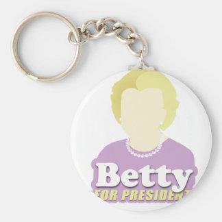 Betty para el presidente llavero redondo tipo pin