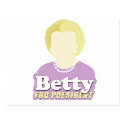 Betty para el presidente tarjetas postales