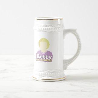 Betty para el presidente taza de café