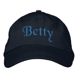 Betty Personalized Embroidered Baseball Cap Blue