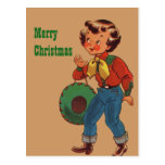 Betty the Cowgirl Merry Christmas Post Cards
