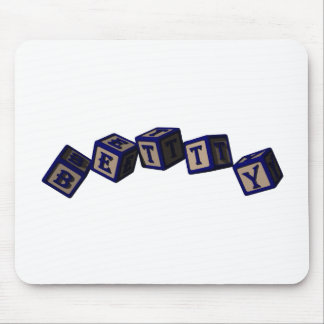 Betty toy blocks in blue. mouse pads