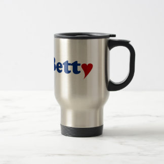 Betty with Heart Travel Mug