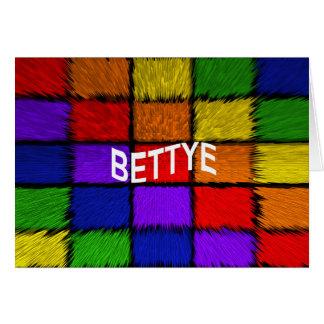 BETTYE CARD