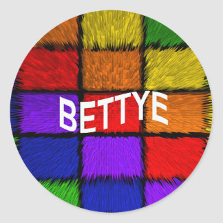 BETTYE CLASSIC ROUND STICKER