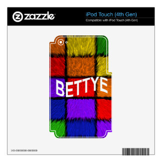 BETTYE DECAL FOR iPod TOUCH 4G