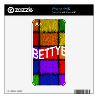 BETTYE DECAL FOR THE iPhone 4S