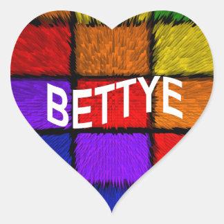BETTYE HEART STICKER